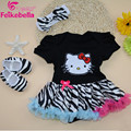 Feikebella Summer Newborn Girl Clothing Set infant Baby Girl Black Romper Dress+ Toddler Shoes Two Pieces Set European Style