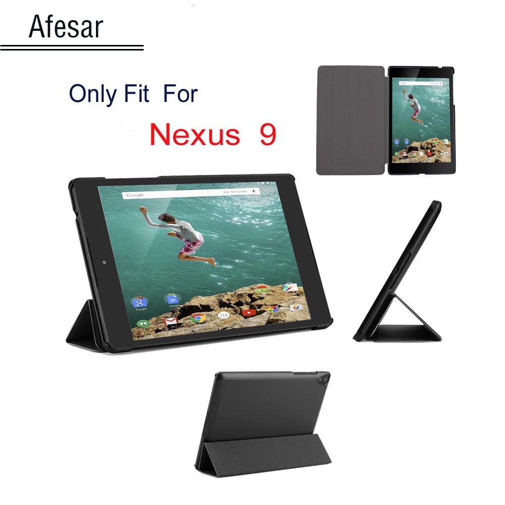 Til Google Nexus 9 Case ultra slank Luksus smart cover til Google Nexus 9 læder taske Android 5.0 Lollipop tablet af HTC
