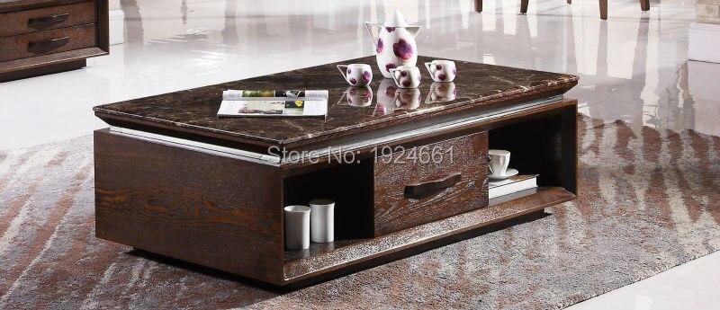 Table basse en bois Cam Sehpalar Muebles précipité miroir meubles Table de barre de LED en bois café avec bureau nouveau modèle de thé 8093