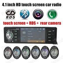 """4.1 """"pulgadas Mp5 de Pantalla táctil de Coches Stereo Radio Audio Soporte de Cámara Trasera 12 V Coche Reproductor de Manos Libres Bluetooth RDS Auxin 1 din"""