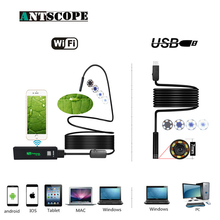 Antscope Wifi 8mm Endoscope 2/3.5/5/10M Waterproof Endoscope Camera1200P Android iOS 7mm Softwire USB Inspection Borescope 19