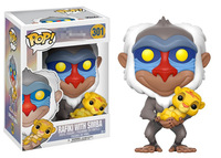 Funko pop official Cartoon The Lion King Rafiki with Baby Simba Vinyl Action Figure Collectible Model Toy with Original Box