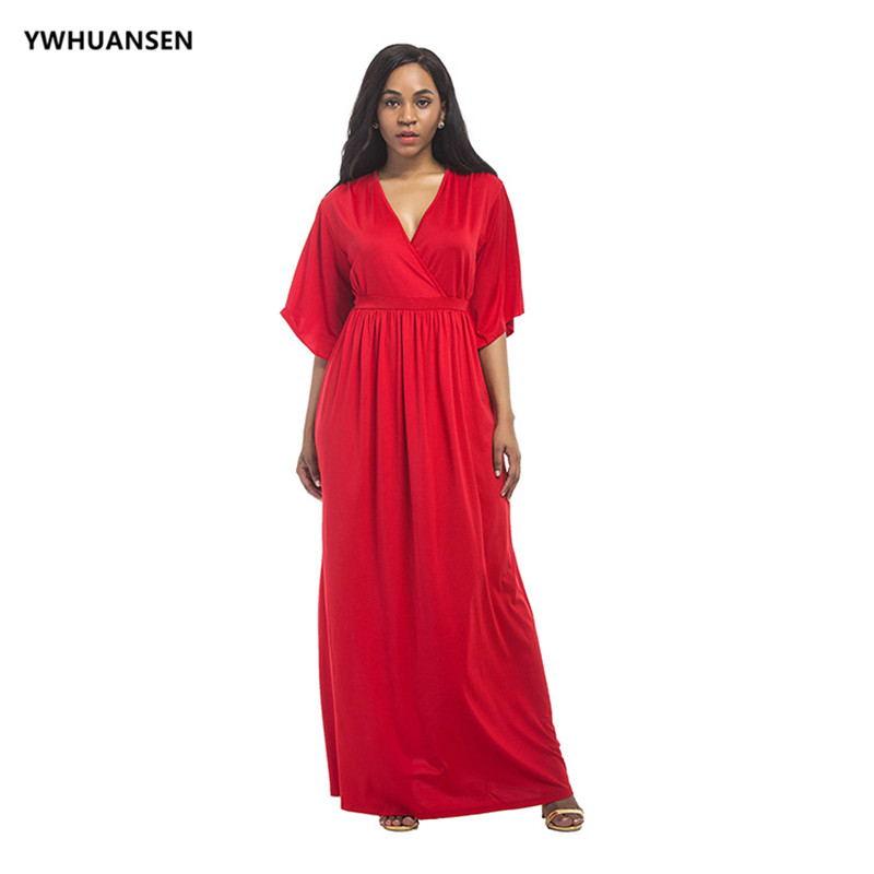 YWHUANSEN/платье с глубоким v-образным вырезом для вечерние и повседневной носки, Ropa Premama, однотонная Летняя женская одежда для беременных белого...