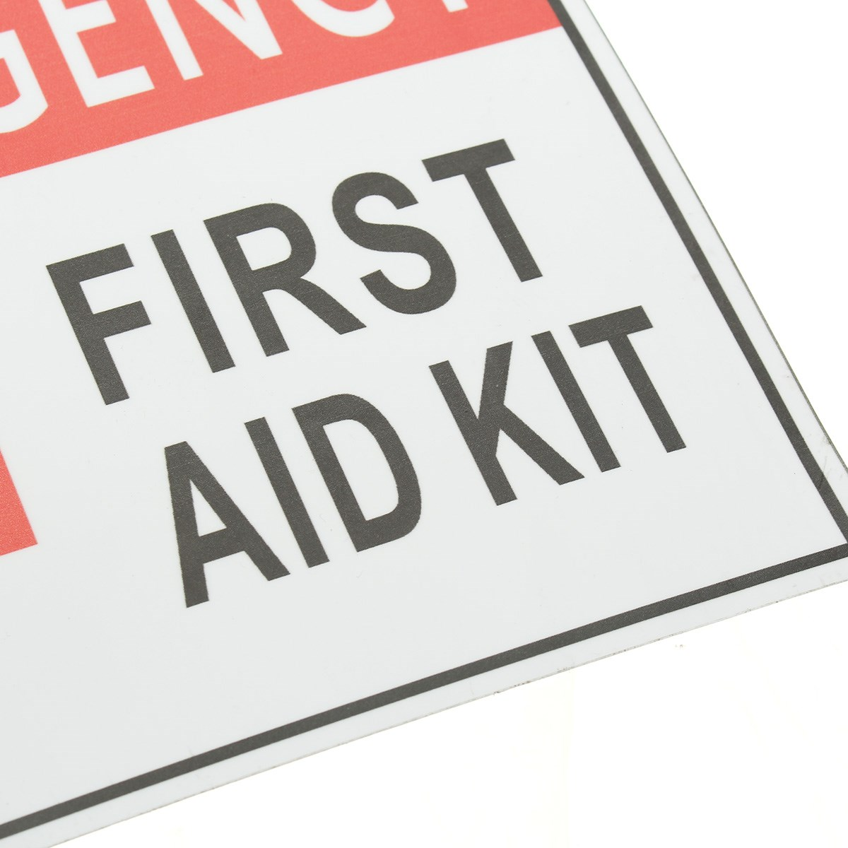 Well-known 4 Size EMERGENCY FIRST AID Sticker Label Signs Red Cross Health  XC52