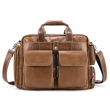 Business Men's Genuine Leather Handbag / Shoulder Bag