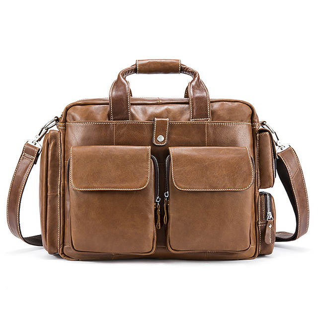 882a28aa8834 US $91.5 39% OFF|MVA Business Mens Briefcases Genuine Leather Laptop Bags  Messenger Bag Men Shoulder Bags for document leather bag Man briefcase-in  ...
