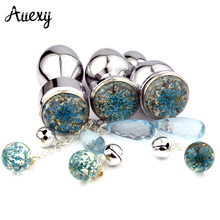AUEXY Metal Butt Plug Stainless Steel Anaal Plugs Crystal Pendant Anale Ass Massager Analplug Edelsta Anal Sex Toys for Woman