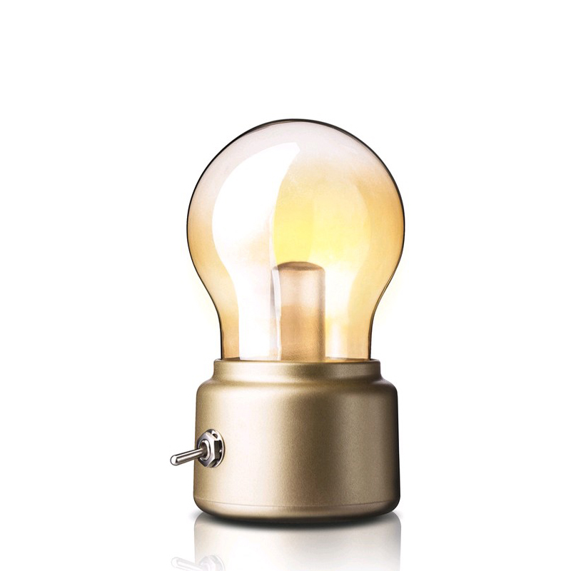 New Production Light Bulb Bright Led Rechargeable Night Light Lamp Night Light Creative Retro