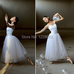 Image 3 - New Women Classical Professional Long Ballet Lyrical Dance Dress Ballerina Tutu Skirt Adult Long Lyrical Dress