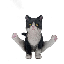 Yoga style Animal Resin figurine 1/6 Scale Cat dog Dubin Pug decoration Statue for 12 inches Action Figure for collection