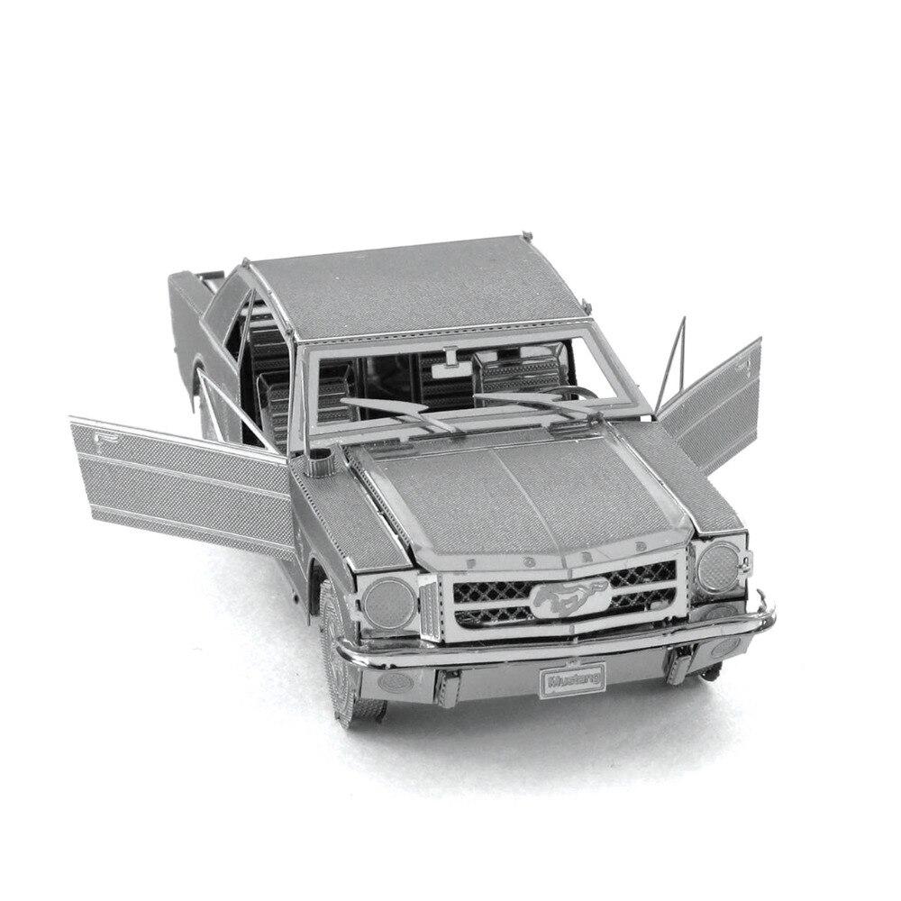 1965 Ford Mustang Için 3D Metal Bulmacalar Yetişkin DIY Araba Bulmaca Eğitici Çocuk Oyuncakları Brinquedos Bilmecenin Çocuklar Için