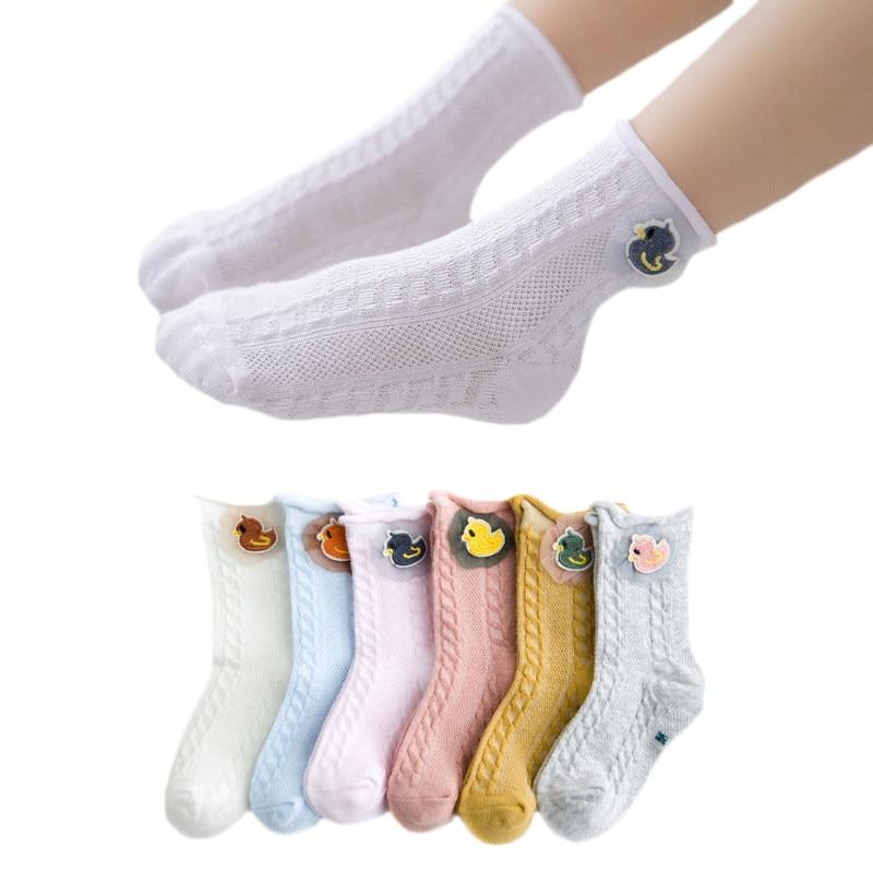 Children's Socks Summer Thin Mesh Kids Girls Boys Newborn Baby Socks Cotton Infant Socks For Girls 1 2 3 4 5 6 7 Years Old