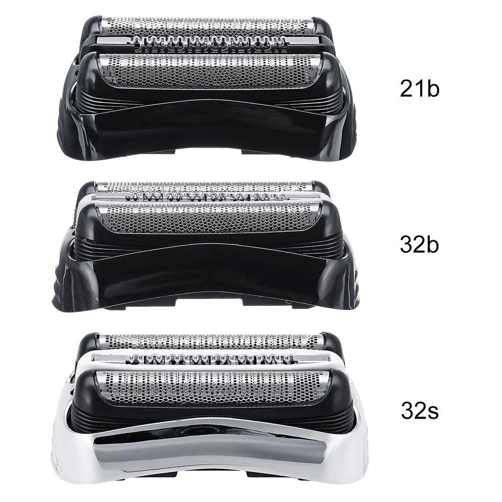 21B/32B/32S Black Shaver Foil Cutter Shaver Head For Braun Series 3 320 330 380 390 3090CC 350CC 320S 330S Cassette Mesh Grid