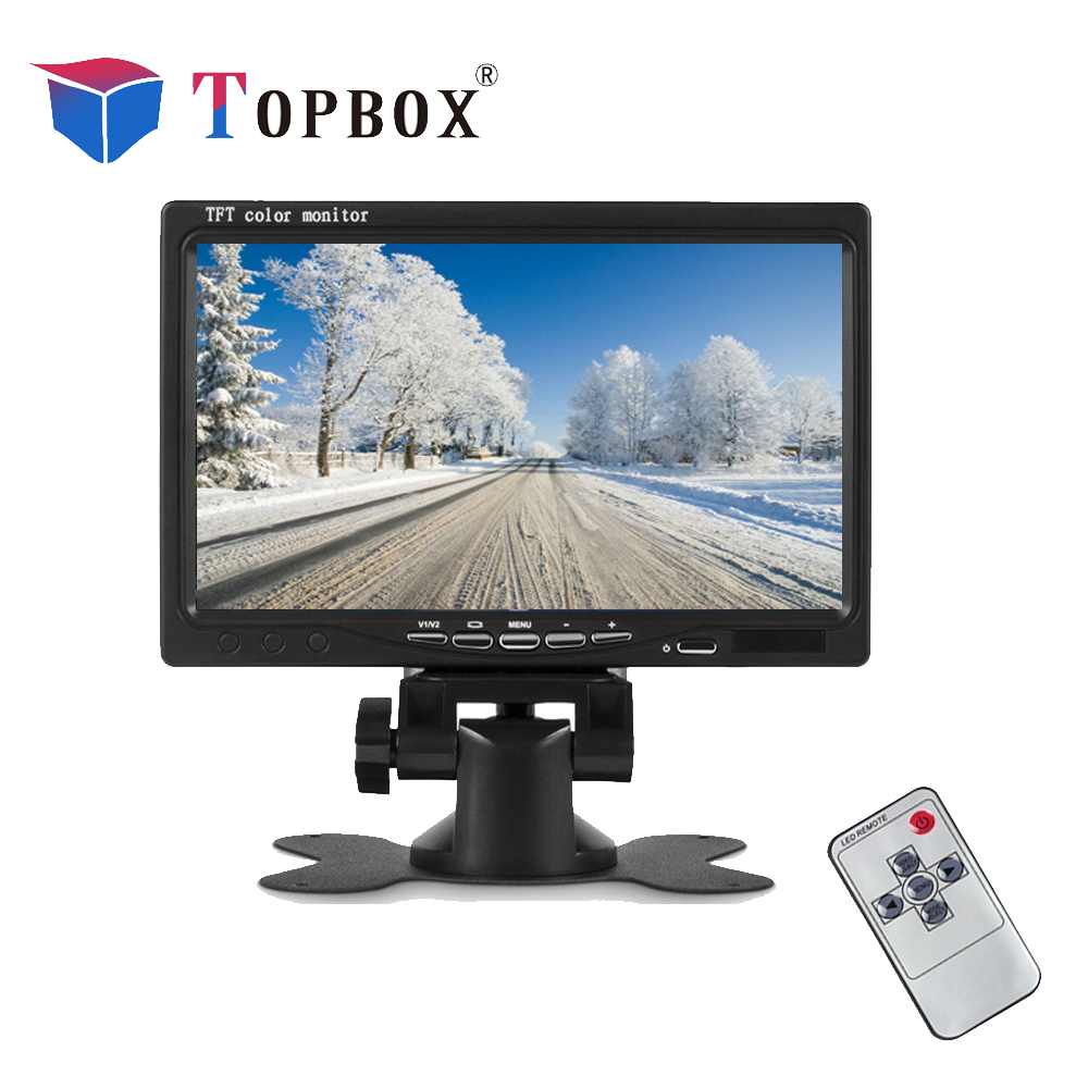 Topbox HD 7 Inch LCD Color Display Screen Car Rear View DVD VCR Monitor With LED Lights Night Vision Backup Reverse Camera high quality brand new 7 inch tft lcd color car rear view monitor wireless ir night vision car dvd vcr for reverse backup camera
