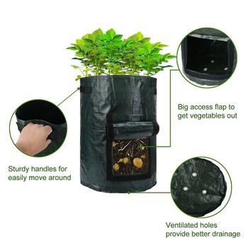 7Gallon Plant Grow Bag Potato Vegetable Fruit Growing Bag Greenhouse Planter Grow Pocket Farm Home Garden Supplies 1