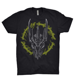 Lord Of The Rings Sauron T Shirt Eye Hobbit Gandalf Wizard Geek Mordor Face rockspace eb30