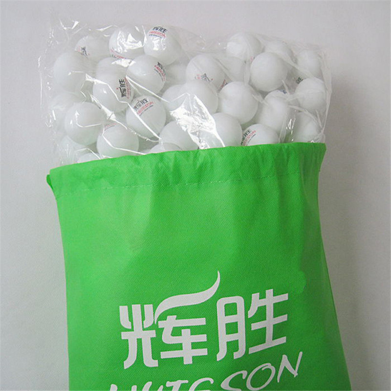 Huieson Non-woven Cloth Table Tennis Balls Storage Bag Dustproof Drawstring Bag for Ping Pong Balls Table Tennis Accessories