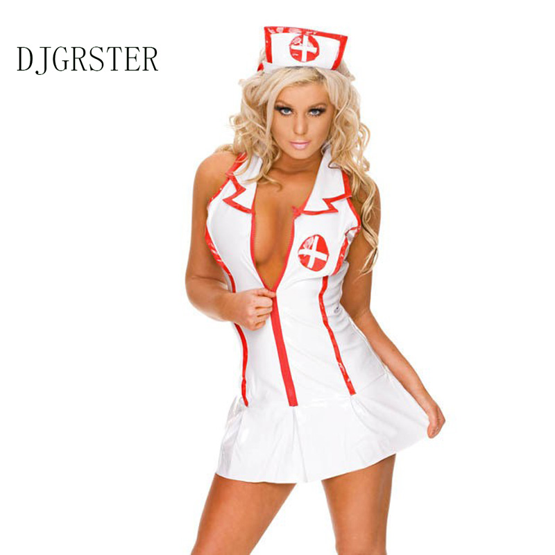 djgrster 2017 naughty sexy nurse halloween costume women cosplay ladies sexy lingerie nurse costume sexy nurse - Naughty Halloween