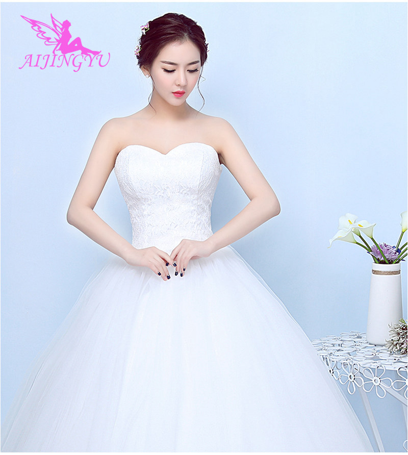 AIJINGYU 2018 Mermaid Free Shipping New Hot Selling Cheap Ball Gown Lace Up Back Formal Bride Dresses Wedding Dress FU268
