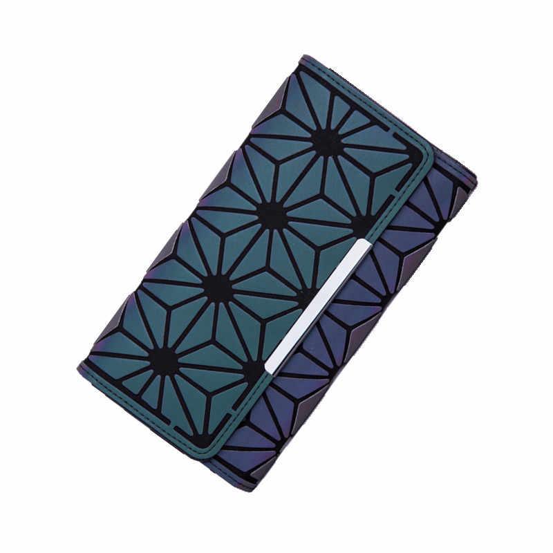 Aliwood מותגים נשים ארנק גיאומטריה מצמד לייזר צבעוני ארנק נשי זוהר ארנק טלפון תיק כרטיס מחזיק Carteira Feminina