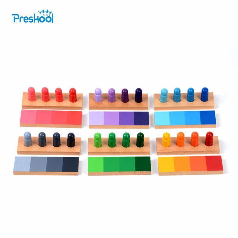 Bébé jouet Montessori 24 pièces couleur ressemblance tri tâche bois petite enfance préscolaire enfants Brinquedos Juguetes