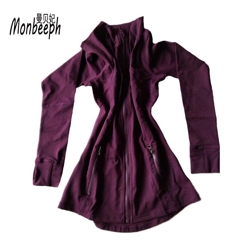 2018 MONBEEPH חדש נשי בסיסי מעילי רוכסן מעיל נשים מזדמן נקבה מעיל מעיל