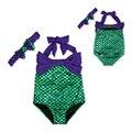 Новые девочки летом устанавливает дети девочек 2 шт. плавать русалка девочек biquini infantil купания детские девушки наряды DS30