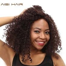 Aisi волос синтетических афро странный фигурные парики для черный женщин афроамериканца красновато-коричневый длинные волосы