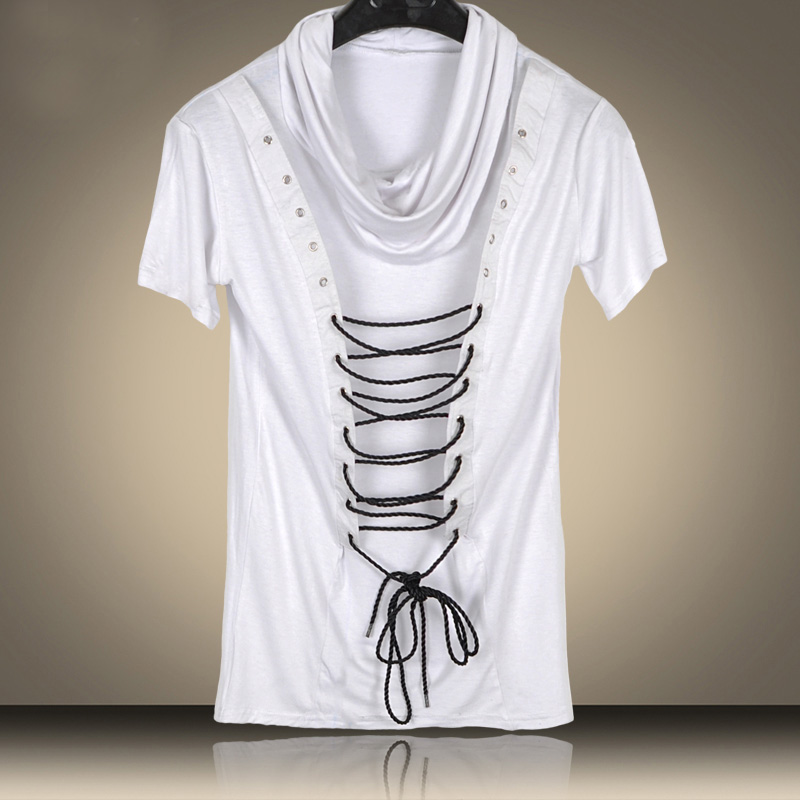 2016 New Non Mainstream Rope Pile Collier Juvénile Hip Hop T Shirt - Vêtements pour hommes - Photo 2