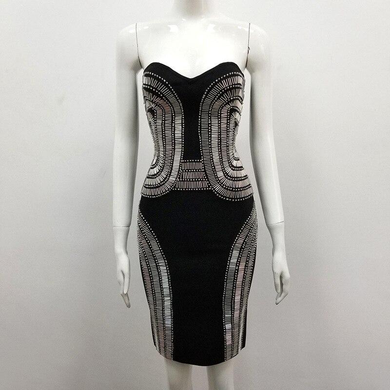 En De Robe Nouveau Nu Mini Club Celebrity Rivet Night Noir Gros Sexy Bretelles 2018 Con Bandage Corps Style Mode Femmes Dos Robes cT1FKlJ