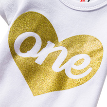 Heart Print First Birthday Girls Dress