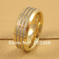 FREE SHIPPING!USA WHOLESALES CHEAP PRICE BRAZIL RUSSIA CANADA UK HOT SELLING 8MM BEVELED New GOLD ENGRAVED TUNGSTEN WEDDING RING