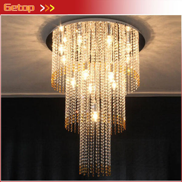 Best Price LED Luxury Villa K9 Crystal Duplex Staircase Chandelier Crystal Lamp Restaurant Lobby Engineering Lights Fixture best price modern led spherical k9 crystal lamp duplex stairs luxury villa round ball crystal pendant lights project lights