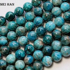 Image 2 - 阪卸売ナチュラル (1ストランド/セット) 11.5 12ミリメートルブルールースビーズファッション宝石の石ビーズジュエリー作成diyのため