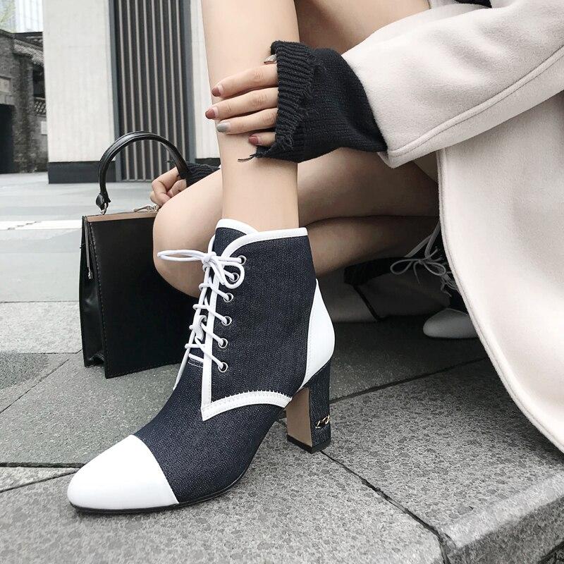Estrenar White Mezclados Vaca Zapatos Colores Invierno Lujo DH29WEI
