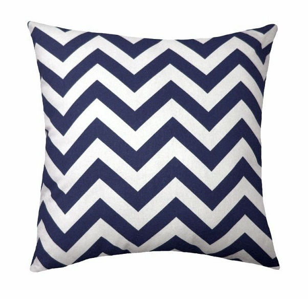 Chevron Zigzag Throw Pillow Case Geometric Zig Zag Cushion Cover Beauteous Navy And White Decorative Pillows