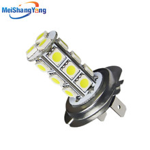 H7 18 SMD 5050 LED White Tail fog signal Car Light Bulb Lamp Auto Car LED lamps Car light source 12 V 6000 K parking цена