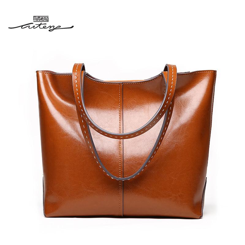 TU-TENG High Quality Tote Handbag Women Female Genuine Leather Bags Handbags Ladies Portable Top Handle Bag Casual Tote G78980