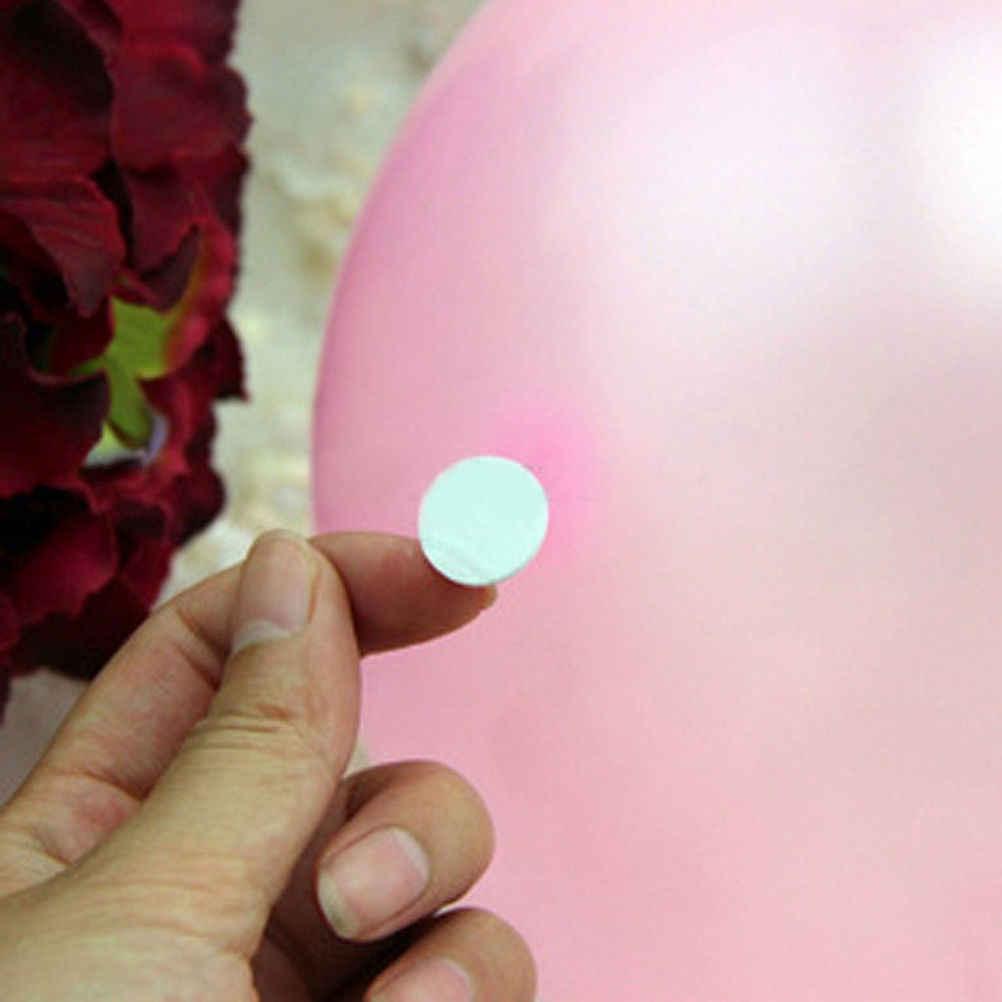 חדש 100pcs DIY קסם מטבע מדבקה לבן עגול רפידות דוט Stickum בלון 15MM דו צדדי דבק ווי לולאות דיסקים