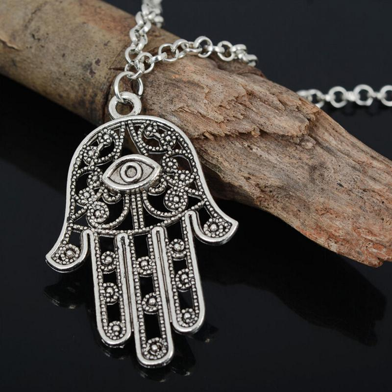 Aliexpress buy fashion good luck protection hamsa symbol aliexpress buy fashion good luck protection hamsa symbol fatima hand pendant chain necklace for women lady girl from reliable chain necklace suppliers mozeypictures