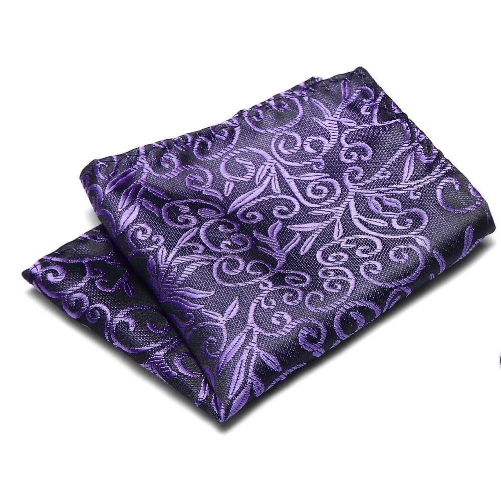 Check Polka Dot Paisley Floral Stripe Men Silk Satin Pocket Square Hanky Jacquard Woven Classic Wedding Party Handkerchief in Men 39 s Ties amp Handkerchiefs from Apparel Accessories