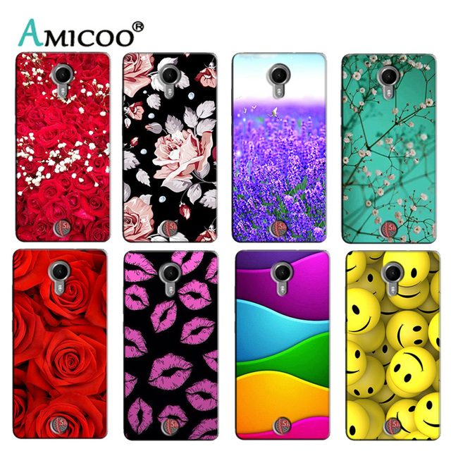 Soft Silicon  Phone Cover Case for Wiko Tommy Cases Printed Back Shell Protector Funda Capa Colorful Flower Bag