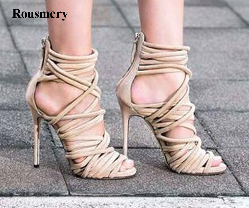 Summer Hot Selling Women Fashion Open Toe Strap Cross Gladiator Sandals Ankle Wrap High Heel Sandals Dress Shoes hot selling women summer new fashion open toe silver leather gladiator sandals cut out strap cross high heel sandals dress shoes