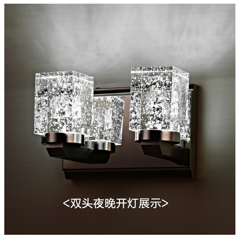 Modern crystal lamp high-end stainless steel LED crystal wall lamp The sitting room the bedroom wall lamp roses FG653 LU1024 steel d until the end of time