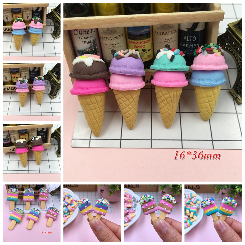 New Arrival Adorable Ice Cream Clay Lollipop Cute Clay Popsicle For Crafts Making, Scrapbooking, DIY
