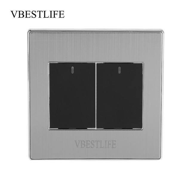 VBESTLIFE 1 Way 250V 10A Home Modern Type Electrical Push Buttons Wall Light Switch Panel