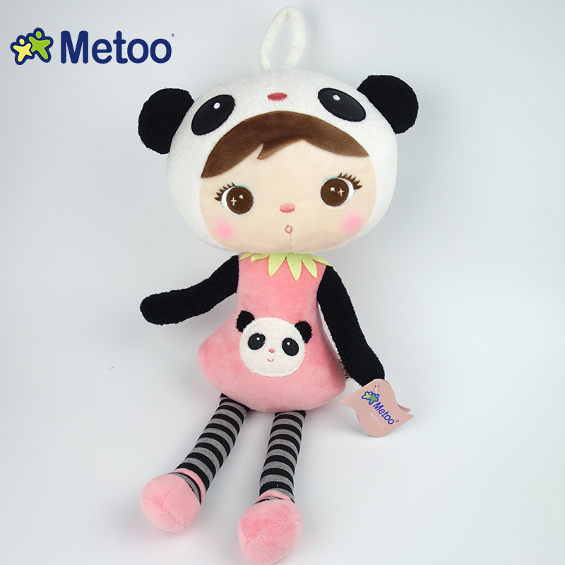 Metoo Keppel 45cm Black Plush Dolls Pendent Cotton Car Decoration Sweet Stuffed Baby Kids Toys Girls Birthday Christmas Gift
