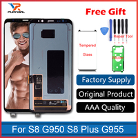 100 Original Work Super AMOLED LCD Display For Samsung S8 G950 S8 Plus G955 Touch Screen