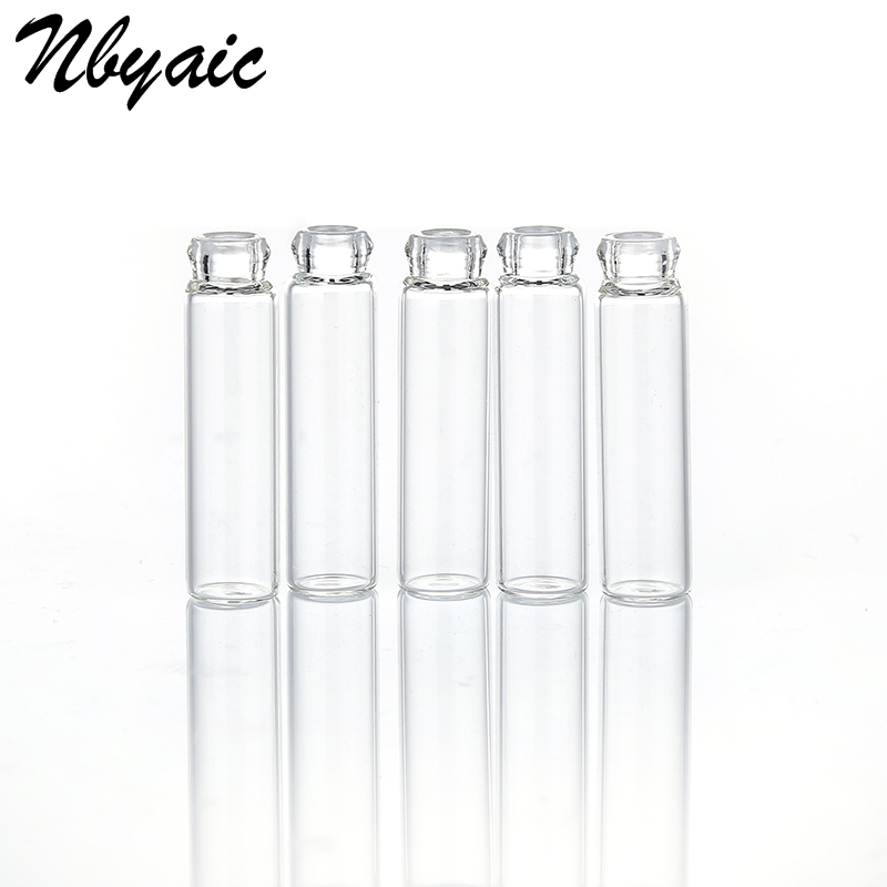 5pcs/lot Mini Glass Perfume Small Sample Vials Perfume Bottle 1ml 2ml Empty Laboratory Liquid Fragrance Test Tube Trial Bottle 5