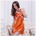 De Las Mujeres atractivas Camisones Dormir Vestido de Seda Rayón Floral Sin Mangas Con Cuello En V de Mini ropa de Dormir Camisón camisón Femenino de La Manera SY9
